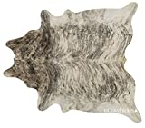 eCowhides Light Brindle Brazilian Cowhide Area Rug, Cowskin Leather Hide for Home Living Room (XXL) 8 x 7 ft