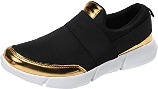 FORUU Women Mesh Casual Loafers Breathable Flat Shoes Soft Running Shoes Gym Shoes
