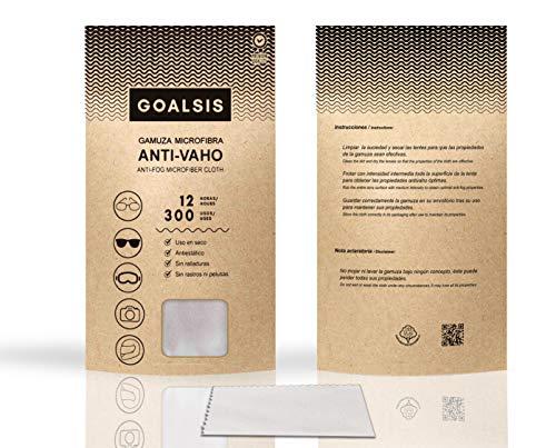 Goalsis - Gamuzas Microfibra Antivaho   Premium   Sin necesidad de liquidos adicionales   Toallita de uso en seco, para GAFAS y lentes   Libre de P.F.O.A.