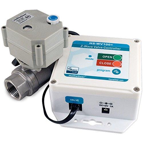 "HomeSeer HS-WV100+ 1"" Z-Wave Plus Water Valve (1.0"" Valve)"