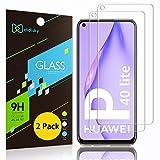 Didisky Pellicola Protettiva in Vetro Temperato per Huawei P40 Lite, [2 Pezzi] Protezione Schermo [Tocco Morbido ] Facile da Pulire, Facile da installare, Trasparente