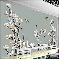 Xbwy 装飾壁画マグノリアの花鳥壁画壁紙リビングルームの背景壁の装飾壁画-150X120Cm