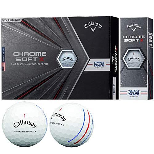 Callaway(キャロウェイ)ゴルフボールCHROMESOFTX1ダース12個入り2020年モデルホワイト
