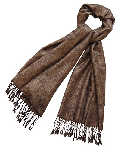 Nella-Mode Nella-Mode Edler & Eleganter Schal, Stola; - Florales Muster; - Farbe: Braun