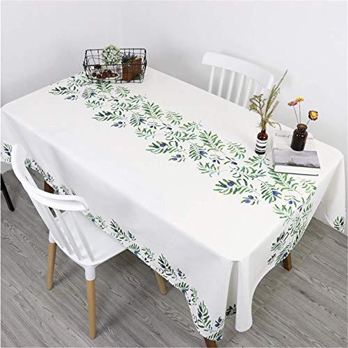Mantel Rectangular con Estampado De Hojas Verdes, Mantel De Cocina para El Hogar, Mantel De Cocina, Mantel De Té, 140x200cm