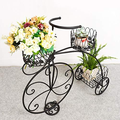 Vintage Parijse Stijl driewieler 3 Tier Zwart Metalen Planter Display Stand/Bloempot Houder/Plantenrek Bloemenrekken