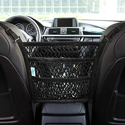 AMEIQ 3 Layer Car Mesh Organizer Net Barrier