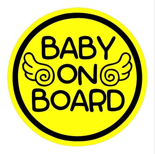 TOTOMO # ALI-024 Baby an Bord Magnet Aufkleber Sicherheit Vorsicht Zeichen für Auto Stoßstange - Baby Angel