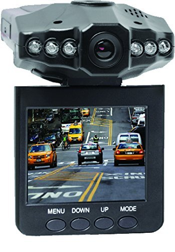 """Coby ALL NEW 2.5"""" SWIVEL SCREEN 1080p Car Dash Cam and DVR Box with Auto ON/OFF Automatic Recording and Microphone to Record Sound"""
