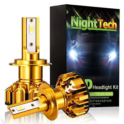 D2S Ampoules de phares à DEL, 72W 7600lm, 6500K, blanc, feu de brouillard, kit de conversion tout-en-un, phare automatique 12v, 2 pièces