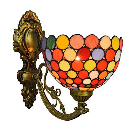 BINGFANG-W dormitorio Lámpara de decoración de la pared de cristal del espejo del color de América del retro Faros de Bohemia de noche la lámpara de pared del pasillo flor de Sun de una sola cabeza de