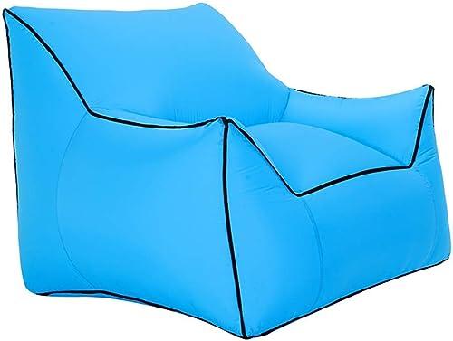 GFF Sofa Gonflable, Pompe airless portative individuelle extérieure Fold Air siège de Plage Bureau Camping Outing Air Coussin 10 Couleurs (Couleur  A)