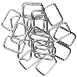 Fibbie Metallo Scorrevole per Bagaglio Fibbie Scorrevoli in Metallo Durevole Fibbie Metallo Cinturino Scivoli Accessori Fibbia in Metallo Rettangolare per Borse,Cinture,Scarpe Set da 40 Pezzi