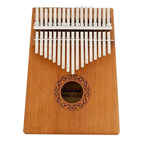 Kalimba, Daumenklavier 17 Keys Kalimba Daumenklavier Praktische Holz Mahagoni Korpus Musikinstrument mit Lernen Buch Tune Hammer (Color : Walnut Color)