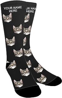 ABIsedrin, Calcetines personalizados, calcetines divertidos hombre, regalo del día del padre, cumpleaños, día de Navidad