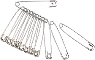 YiwerDer 120PCS Safety Pins, Durable, Rust-Resistant Nickel Plated Steel Pins, Size 2 for Sewing, 1.5inch /38mm