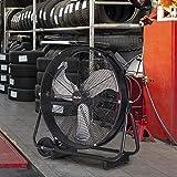 XtremepowerUS 24' Inch High Velocity Flow Floor Fan Rolling Drum Shop Fan Garage Adjustable Speed Air Flow with Built-in Wheel