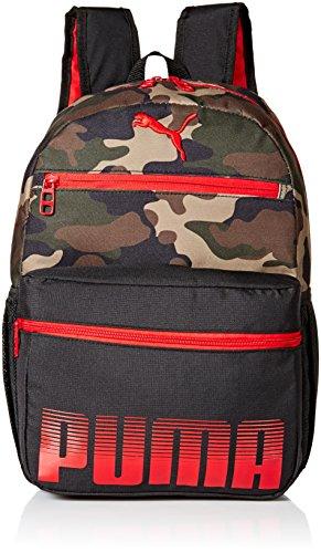 PUMA Jungen Meridian Jr. Kids Backpack Kinderrucksack, Rucksack, Rot/Camouflage, Jugend