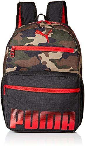 PUMA Boys' Little Backpacks and Lunch Boxes, Red/Camo, Youth