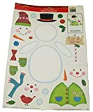 Impact Innovations Winter Reusable Window Clings ~ Build Your Own Snowman (28 Clings, 1 Sheet)