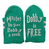 """""""Master has given Dobby a sock, Dobby is FREE"""" Socks by Smith's® - Green & Silver House Colours 