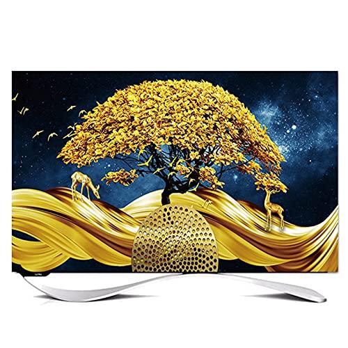 SWEAR Fuera de TV Anterior de 32 A 85 Pulgadas Impermeable TV Cubre A Prueba de Polvo Al Aire Libre Compatible con Varios Modelos(Size:49-52in/W118cmxH70cm)