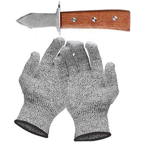Couteau à Huîtres Gant Anti Coupure Les Gants Huîtres Niveau 5 Conforme à La Norme en 388 (Cuisine, Jardinage, Bricolage) - Taille M
