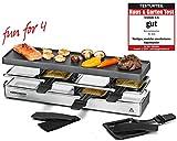 ROMMELSBACHER RC 800 Raclette-Grill fun for 4 (Tischgrill, für 4 Personen, erweiterbar, Parkdeck,...