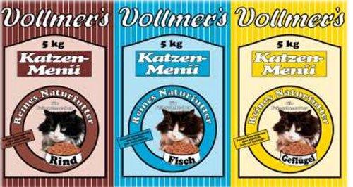 Vollmer´s 57001 Katzenfutter Katzen-Menü Rind 5 kg