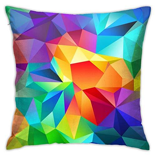 XCNGG Funda de Almohada Funda de cojín de Almohada para el hogar Ropa de Cama Throw Pillow Case, Color Art Pillow Cover, Decorative Pillowcase Square Cushion for Sofa Couch Car 18x18