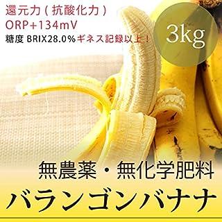 バランゴンバナナ 3kg フェアトレード・無農薬・無化学肥料・ポストハーベスト不使用・糖度28.0%・還元力(抗酸化力)+134mV