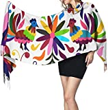 Yuanmeiju Hellblau Mexikanische Fee Natur Grüne Vogelblume Ho Ho Hahn Frauenschal Mode Lange Schals Wickelt Winter Warme Schals Geschenke