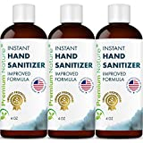 Instant Hand Sanitizer Gel - Value Size Advanced Natural Hand Sanitize Cleaner Aloe Vera Moisturizer Packaging May Vary 4 oz 3 Pack