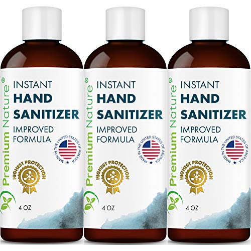Instant Hand Sanitize Gel - 3 Pack Value Size Advanced Natural Hand Sanitize Cleaner Portable Aloe Vera Moisturizer Packaging May...