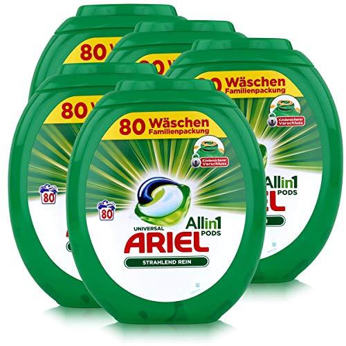 Ariel Allin1 Pods Universal Waschmittel für 80 Waschladungen (5er Pack)