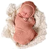 Sunmig Newborn Baby Stretch Wrap Photo Props Wrap-Baby Photography Props (Peach)