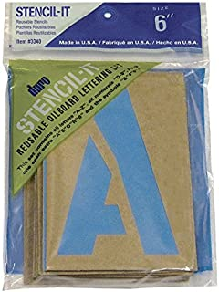 "NEW 2"" HILLMAN ALPHABET LETTERS STENCIL OIL BOARD SYMBOLS NUMBERS REUSABLE"