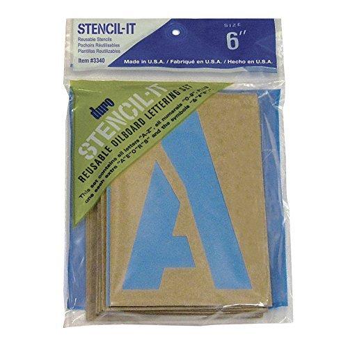 Graphic Products Duro by Stencil-it Oil Board Stencil Set, 5,1cm, Transparent, Coppia