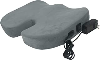Pannow Heated Seat Cushion, Memory Foam Coccyx Cushion with 3 Temperature Levels, Electric Warmer Heated Support Cushion for Car Home Office Chair Use Sciatica Relief