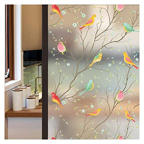 Window Film Self Adhesive Privacy Window Film Non-Adhesive Frosted Decorative Glass Film Static Cling Stained Window Stickers For Home Office Window Film ( Color : Solid color , Size : 60x200 cm )