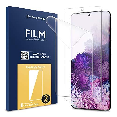 Caseology, 2 Stück, Samsung Galaxy S20 Plus Schutzfolie, Hüllenfreundlich Blasenfreie TPU Film Displayschutzfolie, Samsung Galaxy S20 Plus Schutzfolie