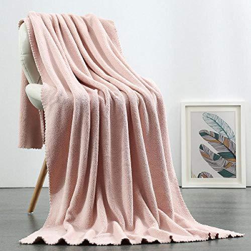 N/A Toallas en Blanco y Negro, Toallas de baño de Lana de Coral, Toallas absorbentes para Damas, envolturas para el hogar, Gris Rosado pálido, 180 x 90 cm