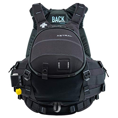 Astral, GreenJacket Life Jacket PFD for Whitewater Rescue, Sea, and Stand Up Paddle Boarding, Midnight Black, S/M