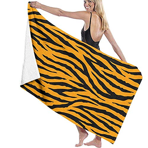 Badhanddoekenset met tijgerprint, washandjes, badkamer, superzacht, extra grote badhanddoek, strand, sneldrogend.