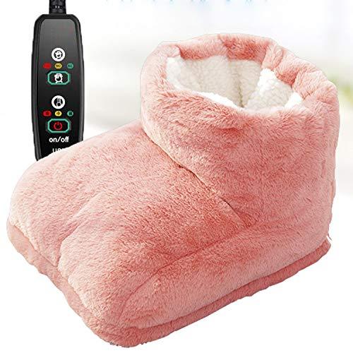 電気足温器 NIJIAKIN フットウォーマー USB足温器 3段階調節可能 寮の部屋 電気靴 電熱 クッション 事務所 ウォームパッド フットウォーマー フットヒーター 手足の冷え対策 男女兼用 日本語取扱説明書 (Brown)