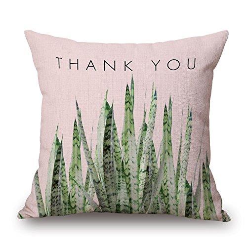 Nueva Tropical plantas decoración del hogar cama Sofá manta de coche funda de almohada Funda de cojín