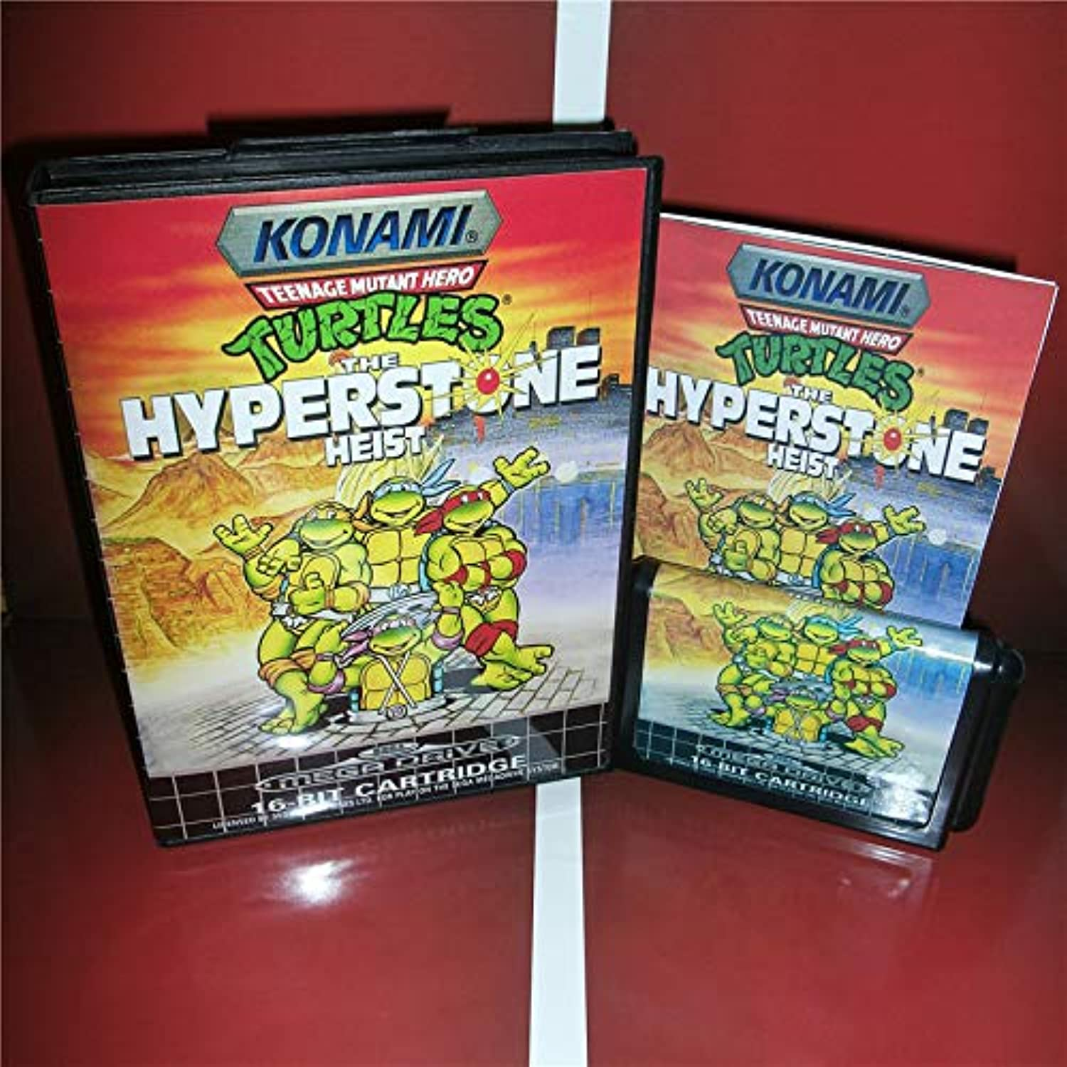 ValueSmartToys  Turtles The Hyperstone Heist EU Cover with Box and Manual for Sega Megadrive Genesis Video Game Console 16 bit MD Card