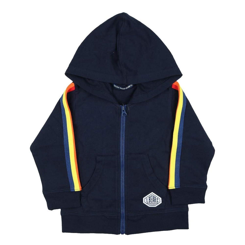 【子供服】 Little Bear Club (リトルベアークラブ) 袖カラフルラインミニ裏毛パーカー 120cm S10450