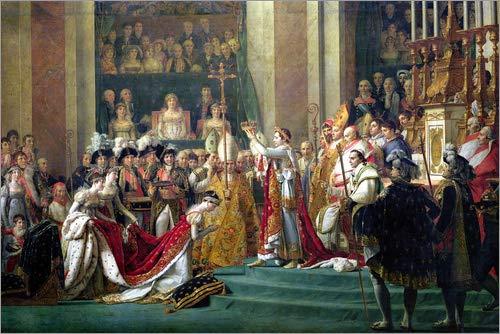 Posterlounge Cuadro de metacrilato 90 x 60 cm: The Consecration of The Emperor Napoleon de Jacques-Louis David/Bridgeman Images