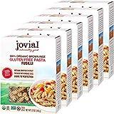 Jovial Fusilli Gluten-Free Pasta   Whole Grain Brown Rice Fusilli Pasta   Non-GMO   Lower Carb   Kosher   USDA Certified Organic   Made in Italy   12 oz (6 Pack)